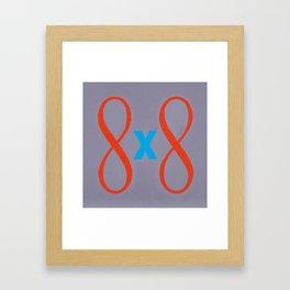 64 Framed Art Print