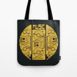 Music Gramophone Circle Tote Bag