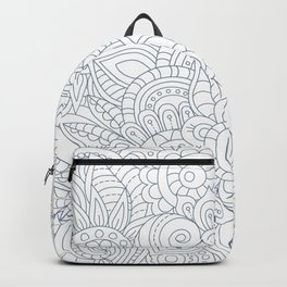 Background Zentangle (doodle) flowers Backpack