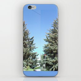 Colorado Blue Spruce, front yard, doubled iPhone Skin