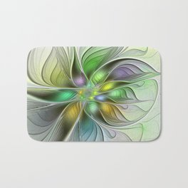 Colors Make My Day, Abstract Fractal Art Bath Mat