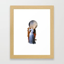 the kiss hayez Framed Art Print