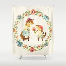 Otterly Grateful Shower Curtain