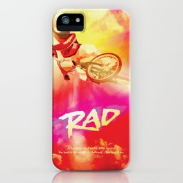 Re-Imagined 1980s Rad Movie Poster iPhone Case