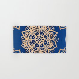 Blue and Gold Mandala Hand & Bath Towel