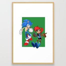 Way past cool team Framed Art Print