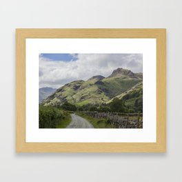Langdale Pikes from Green lane Framed Art Print