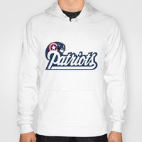 patriots Hoodies featuring American Patriots by SuperEdu