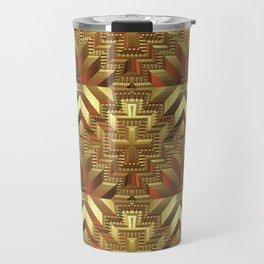 Golden Patchwork Travel Mug