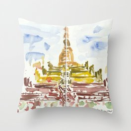 Shwesandaw Pagoda Throw Pillow