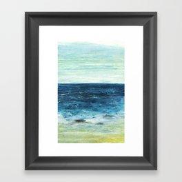 Horizon at the Baltic sea Framed Art Print