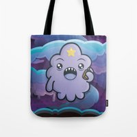 lumpy space princess Tote Bags featuring Kawaii Lumpy Space by Squid&Pig