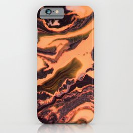 Orange marble iPhone Case