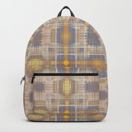 Faded gold crosses pattern Backpack