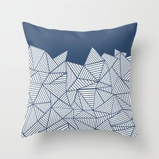 Abstract Mountain Navy Throw Pillow