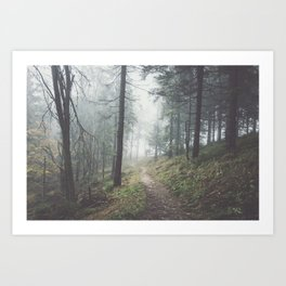 Into the unknown - Landscape and Nature Photography Art Print