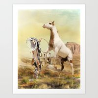 wild things Art Prints featuring Wild Things by Trudi Simmonds