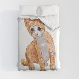 A little cute cat,curious and playful  Comforters