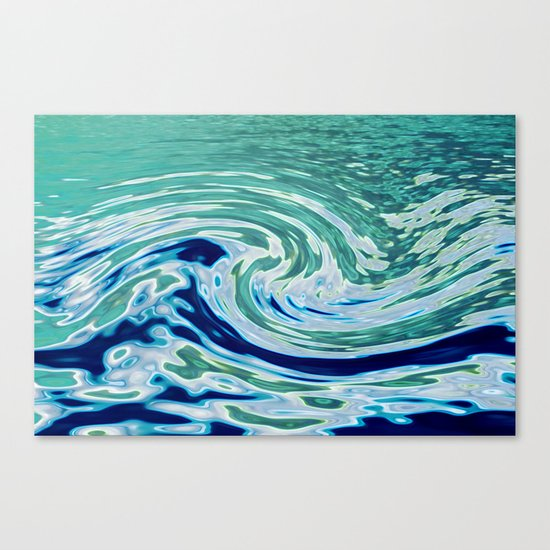OCEAN ABSTRACT 2 Canvas Print