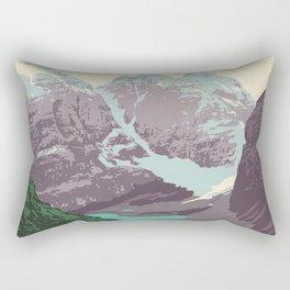 Yoho National Park Poster Rectangular Pillow
