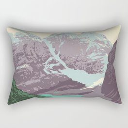 Yoho National Park Poster Rectangular Pillow