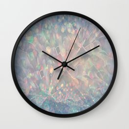 Sparkling Crystal Maze Abstract Wall Clock