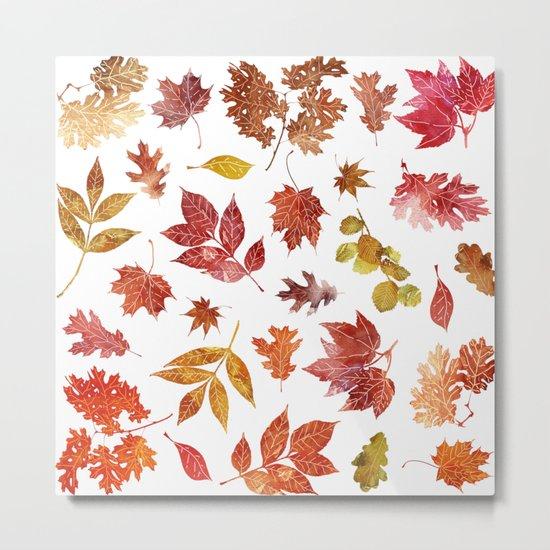 Hot Leaves Metal Print