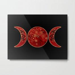 Triple Blood Moon Metal Print
