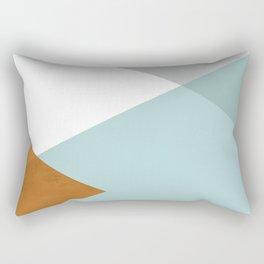 Geometrics - aqua & orange concrete Rectangular Pillow
