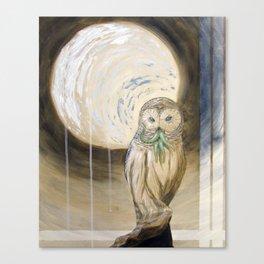 Owlthulhu Canvas Print
