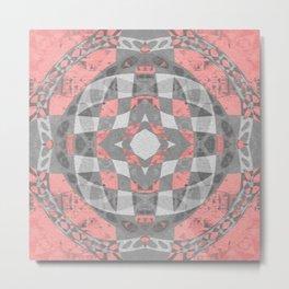 Petal Rose Pink Boho Geometric Portal Metal Print