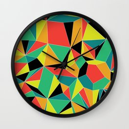 Faceted Kaleidescope Wall Clock
