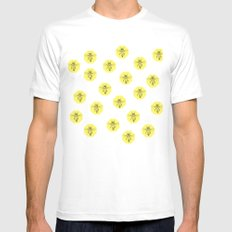 Save The Bees White MEDIUM Mens Fitted Tee