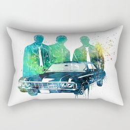 SuperNatural brothers and the Chevy Impala Rectangular Pillow