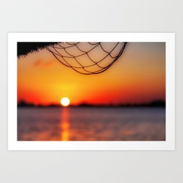 Sunset on the water, Cancun, Mexico Art Print