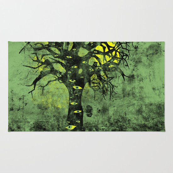 the Vision Tree (green) Rug