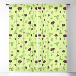 Birdy Roses pattern 3 Blackout Curtain