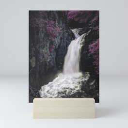 Beautiful pink fantasy Waterfall river Mini Art Print
