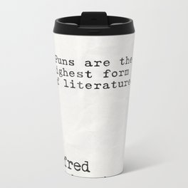 Alfred Hitchcock quote Metal Travel Mug