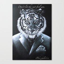 """Don't let the suit fool you."" Canvas Print"