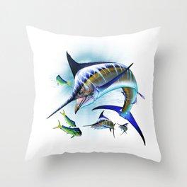 Marlin and Mahi Mahi Throw Pillow
