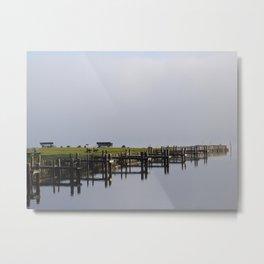 Fog on Lake Chiemsee Metal Print
