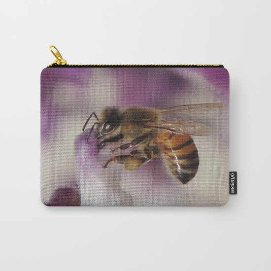 Worker Bee on Mexican Sage Carry-All Pouch