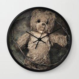 trapped teddy bear Wall Clock