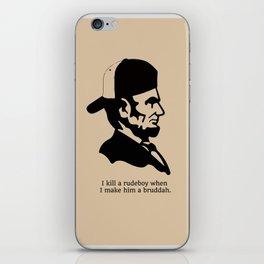 Badman Abraham iPhone Skin