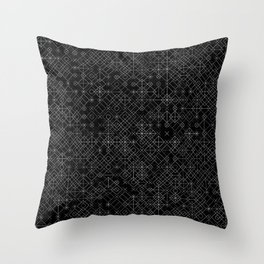 Black and White Overlap 1 Throw Pillow
