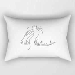 Fun Dragon Illustration Rectangular Pillow