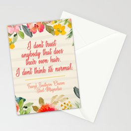Truvy Southern Charm Series Don't Trust Anyone That Does Their Own Hair Steel Magnolias Stationery Cards