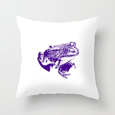 purple frog II Throw Pillow