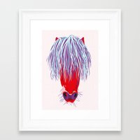 pony Framed Art Prints featuring Pony by FTF by marge fellerer
